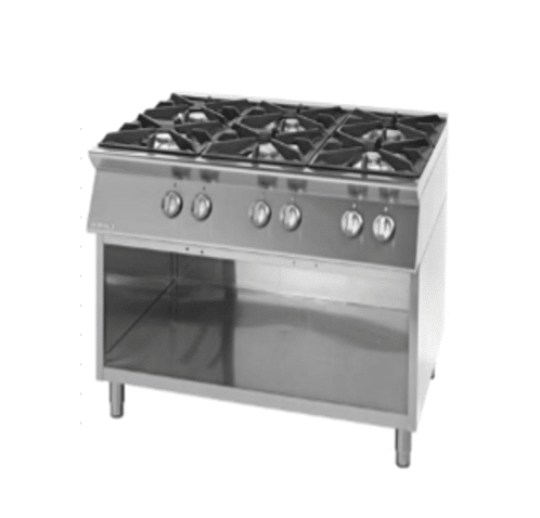 Giorik 6 Burner Gas Range with Open Type Base (High End)